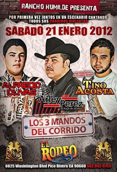 LOS 3 MANDOS de El Corrido...Enero 21, 2012